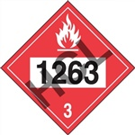 Combustible Liquid 1263  DOT HazMat Placard