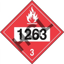 Combustible Liquid 1263 DOT Placard