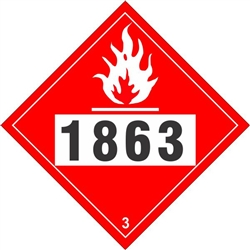 Flammable Liquid 1863  DOT HazMat Placard