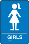 Girls Restroom Braille Sign | HCL Labels