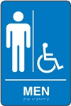 Men's Braille Sign | HCL Labels