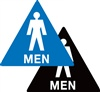 Restroom (Men) Braille Sign | HCL Labels