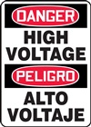 Danger Sign - High Voltage (Bilingual)
