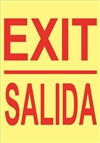 Safety Sign - Exit Glow In The Dark
