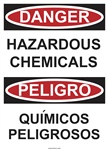Danger Sign - Hazardous Chemicals (Bilingual)