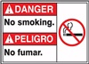 Danger - No Smoking Sign