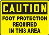 Caution Sign - Foot Protection Required In This Area