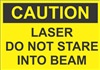Caution Sign - Laser Do Not Stare Into Beam
