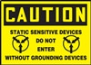 Caution Sign -  Static Sensitive Devices