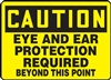 Caution Sign - Eye And Ear Protection Required