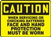 Caution Sign - When Servicing Or Checking Batteries