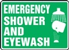 Safety Sign - Emergency Shower And Eyewash