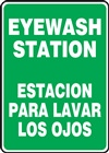 Safety Sign - Eyewash Station (Bilingual)
