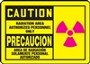 Caution Sign - Radiation Area (Bilingual)