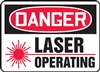 Danger Sign - Laser Operating