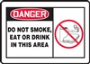 DangerDo Not Smoke, Eat Or Drink In This Area