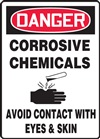 DangerCorrosive Chemicals Avoid Contact With Eyes & Skin