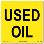 Used Oil Label | HCL Labels, Inc.