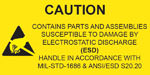 Caution - ESD - Label