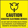 Caution Sensitive Electronic Devices Label