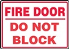 Fire Door Do Not Block