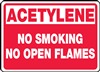 AcetyleneNo Smoking No Open Flames