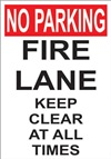 No Parking Fire Lane Keep Clear At All Times