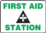 Safety Sign - First Aid Station