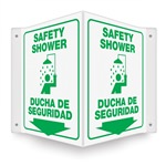 Projecting Safety Shower Plastic Sign