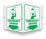 Safety Sign - Emergency Shower Projecting