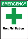 Safety Sign - Emergency First Aid Station