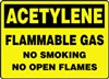 AcetyleneFlammable Gas No Smoking No Open Flames