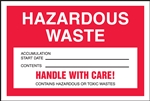 Hazardous Waste Accumulation Label