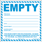Empty  EPA Standards Label