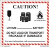 Caution Lithium Battery Shipping Label | HCL Label