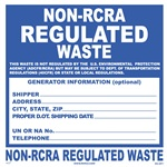 Non-RCRA Regulated Waste Label