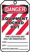 Danger Equipment Locked Out