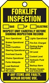 Forklift Inspection Tag