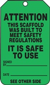 Attention - Safe To Use Scaffold Tag