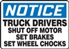Notice Truck Drivers Shut Off Motor Sign | HCL
