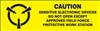 Caution Sensitive Electronic Devices Label | HCL