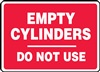 Empty Cylinder Do Not Use