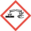Corrosive GHS Pictogram Label