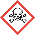 Skull and Crossbones GHS Pictogram Label