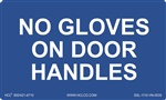 No Gloves On Door Handles Label | HCL Labels