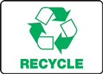 Recycle Sign With Graphic | HCL Labels