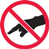 Do Not Touch Safety Symbol