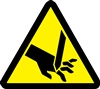 Cut Or Sever Hazard Safety Symbol