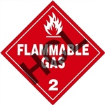 Flammable Gas 2 DOT Label