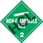 Non-Flammable Gas 2 DOT Label